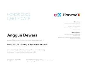 edX HarvardX ChinaX Part 4 A New National Cuture 2014 April