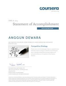 Coursera - Ludwig Maximilians Universitat - Competitive Strategy - 2014 June